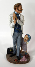 """10"""" Vintage Duncan Royale Resin Old Doctor with Boy Patient Limited Edition - $85.49"""