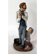 "10"" Vintage Duncan Royale Resin Old Doctor with Boy Patient Limited Edition - $85.49"