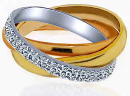 Diamond Trinity Eternity Wedding Ring 18k Multi-Tone Gold (0.80 tcw) - $1,781.01