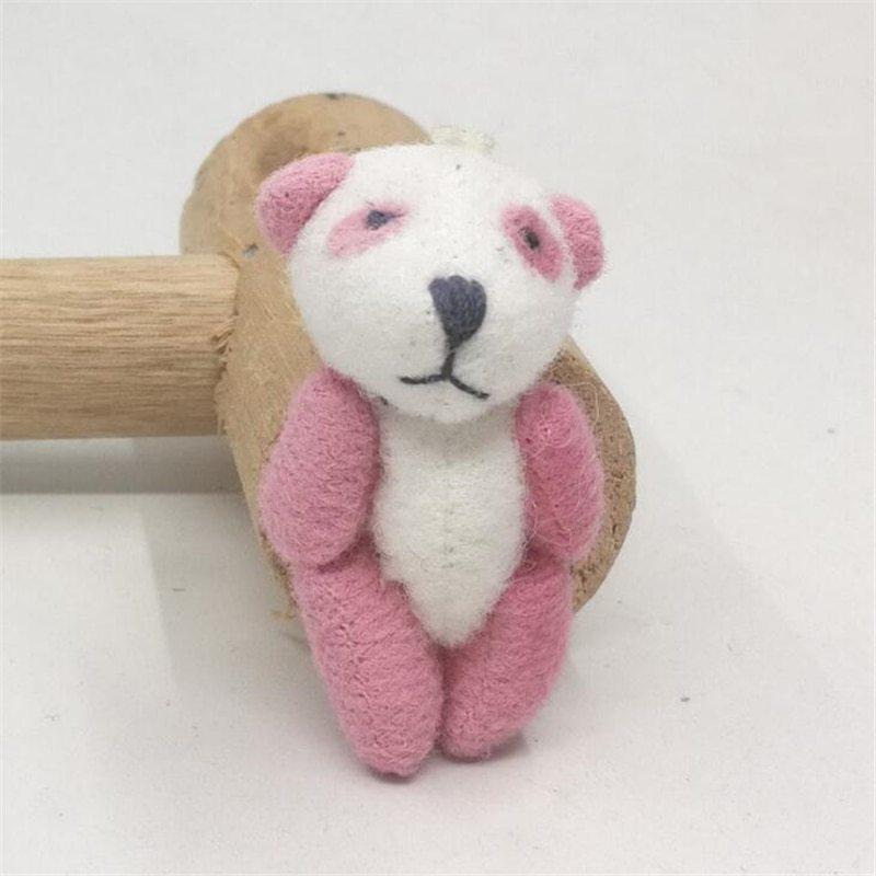100pcs/lot Kawaii Small Joint Panda Bear Stuffed Plush Toys,Small Phone Pendant  image 6