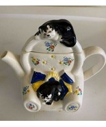 WADE England Teapot  - Judith Wootton  Feline Collection  - Cats on Chair - $29.99