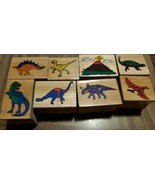 Wooden Dinosaur Stamps set of 8 Melissa and Doug stamping stamps - $8.40