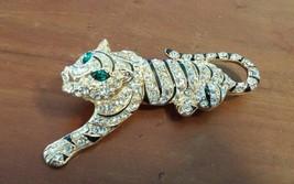 Hard to Find EISENBERG ICE Rhinestone and Enamel Tiger Pin Brooch MINT - $89.05