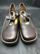 BORN Women's Sz 9.5M 41 Brown Leather Mary Jane Flats Comfort Shoes Buck... - $29.65