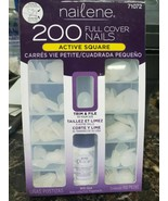 Nailene Full Cover Nails Active Short Square Trim & Size With Glue - 200... - $9.49