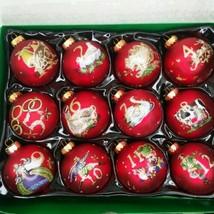 Kurt Adler 12-Piece 12-Days of Christmas Decorative Glass Balls Set, 65mm - $116.09