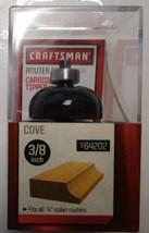 "Craftsman 64202 3/8"" Cove Carbide Router Bit 1/4"" Shank - $6.44"