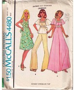 Misses' DRESS or TOP 1975 McCall's Pattern Pattern 4480 Size 10 - $10.99