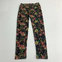 Lularoe Leggings Women's OS 2-10 Multicolor Floral Knit Mid Rise Elastic... - $18.95