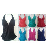 Apt 9 Rouched Halterkini Swim Solid Swimwear Top Halter Tankini Push Up ... - $9.99