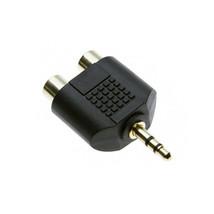 3.5mm Stereo Audio Jack Plug 1 Male to 2 RCA Female Headphone Y Splitter Adapter - $5.89