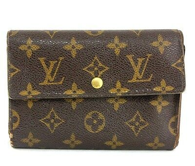 Primary image for Louis Vuitton Monogram Porte-Tresor Pochette Passport Trifold Wallet Purse Used