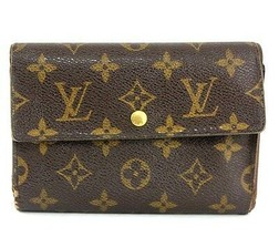 Louis Vuitton Monogram Porte-Tresor Pochette Passport Trifold Wallet Pur... - $137.61