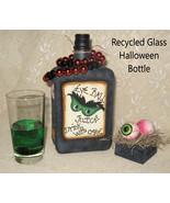 Altered Halloween Bottles, Altered Bottles, Glass Potion Bottles, Eyeballs - $49.99