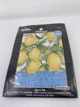 Bucilla Welcome with Lemons Counted Cross Stitch Kit #WM45522 - $4.99