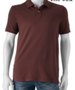 NWT Men's SONOMA SUN-WASHED POLO Shirt, Maroon, 100% Cotton, Size Small - $9.68