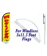 We Deliver  Windless  Swooper Flag With Complete Kit  - $49.49