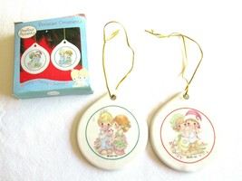 Set 2x 2004 Precious Moments Porcelain Ornament Thoughts Of You + So Sew... - $9.99
