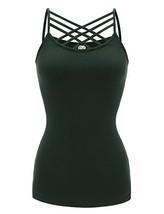 Regna X NO Bother Women's Sleeveless Deep U Neck Casual Solid Cami Tank ... - $22.40