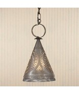 Madison Witch Hat Hanging Light in Heritage Gray Tin - $79.99
