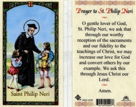 Prayer to Saint Philip Neri Card - EB876 - Convert Others by Our Worthy ... - $2.79