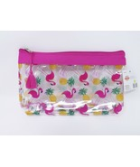 Just Be Zippered Purse Kit Cosmetic Travel Case - New - Pineapples & Fla... - $9.99