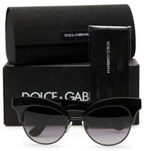 New D&G Dolce & Gabbana DG6109 501/8G Black /GREY Grad Lenses Sunglasses 50mm - $178.20