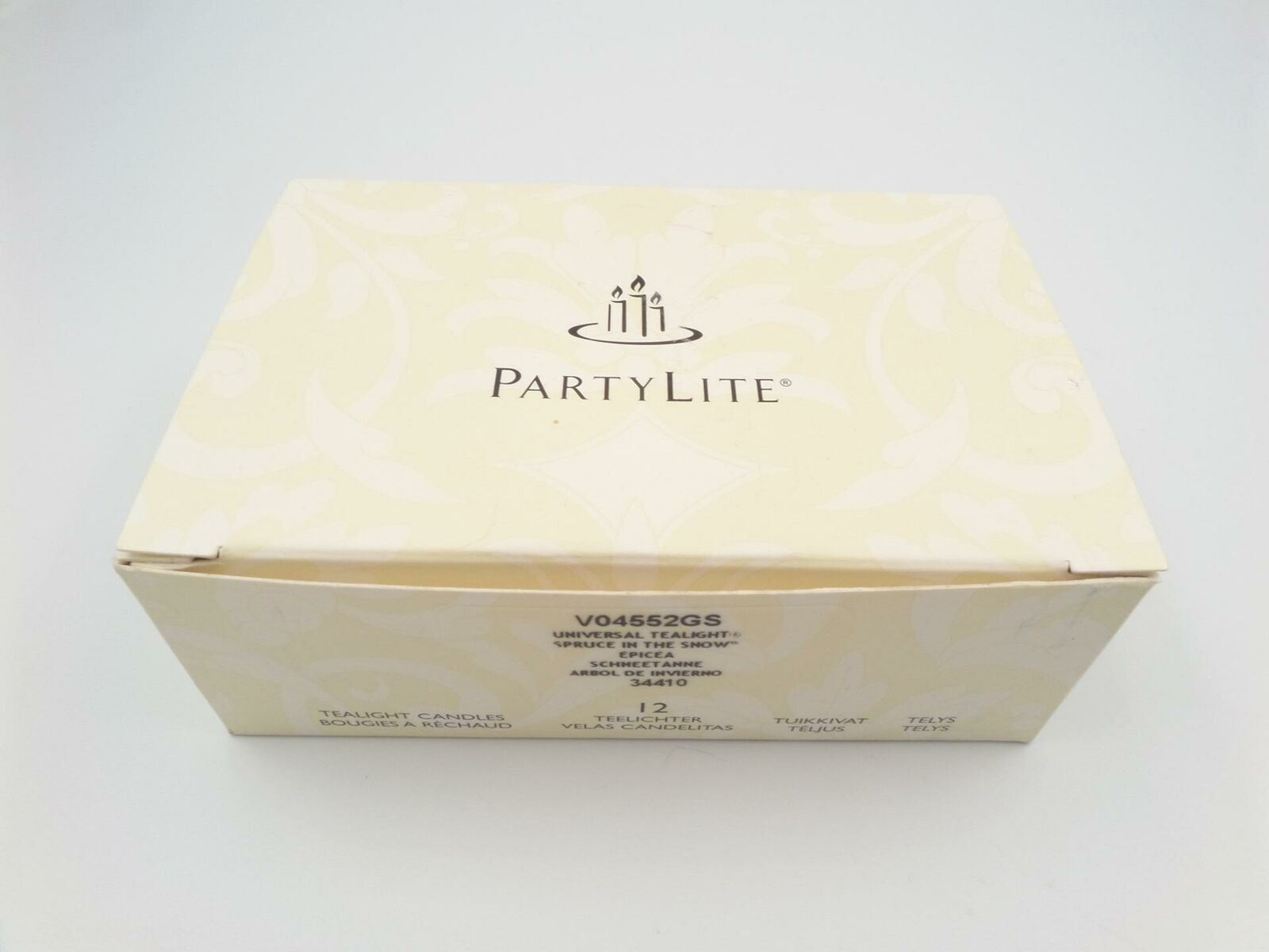 PartyLite Tealight Candles 10 Incomplete Box V04552GS Spruce In The Snow