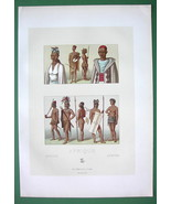 AFRICA Costume of Timbuctoo Natives Arabs Moors - COLOR Print A. Racinet - $12.15