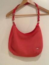 "Solid Pink The Sak HOBO Style Hand Bag w/Zipper 14"" Wide 9"" Deep EUC - $16.95"