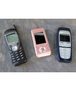 Lot of 3 vintage Cell Phones - Audiovox, Sony Ericsson, & Nokia - $8.00