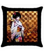 Throw pillow case japan japanese geisha fan design unique decoration kaw... - $19.50