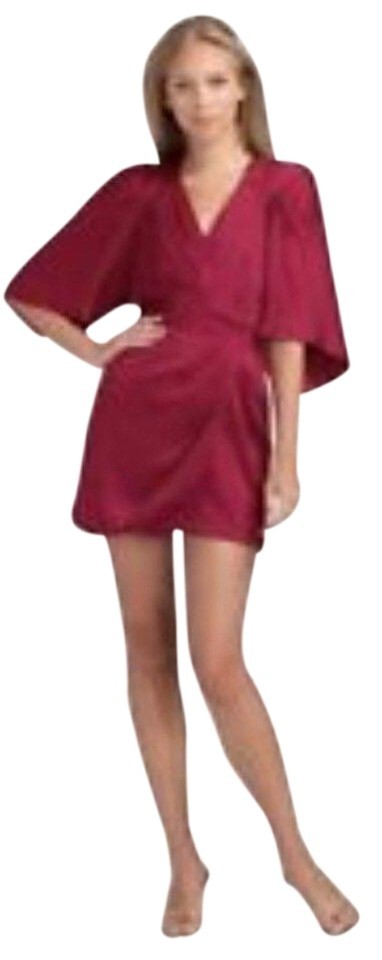 Bcbgmaxazria red short cocktail dress size 6 s 0 1 960 960