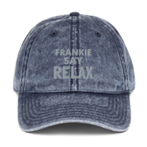 Frankie SAY RELAX hat / Vintage Cotton Twill Cap image 2