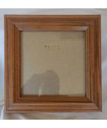 "5"" x 5"" Medium Brown Oak Solid Wood Frame w/Glass - $13.86"