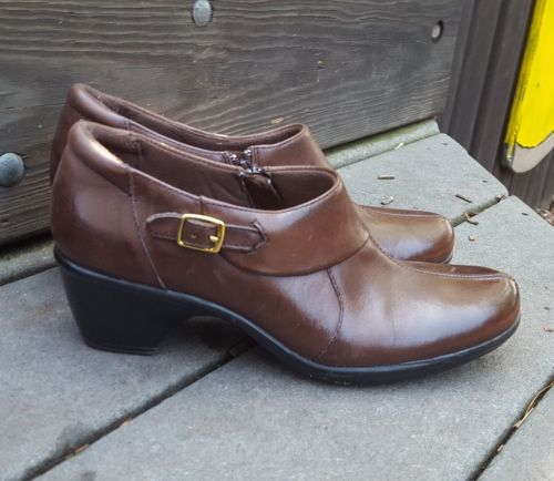 f65e3858748 Clarks booties 8 brown leather loafers strap and 50 similar items