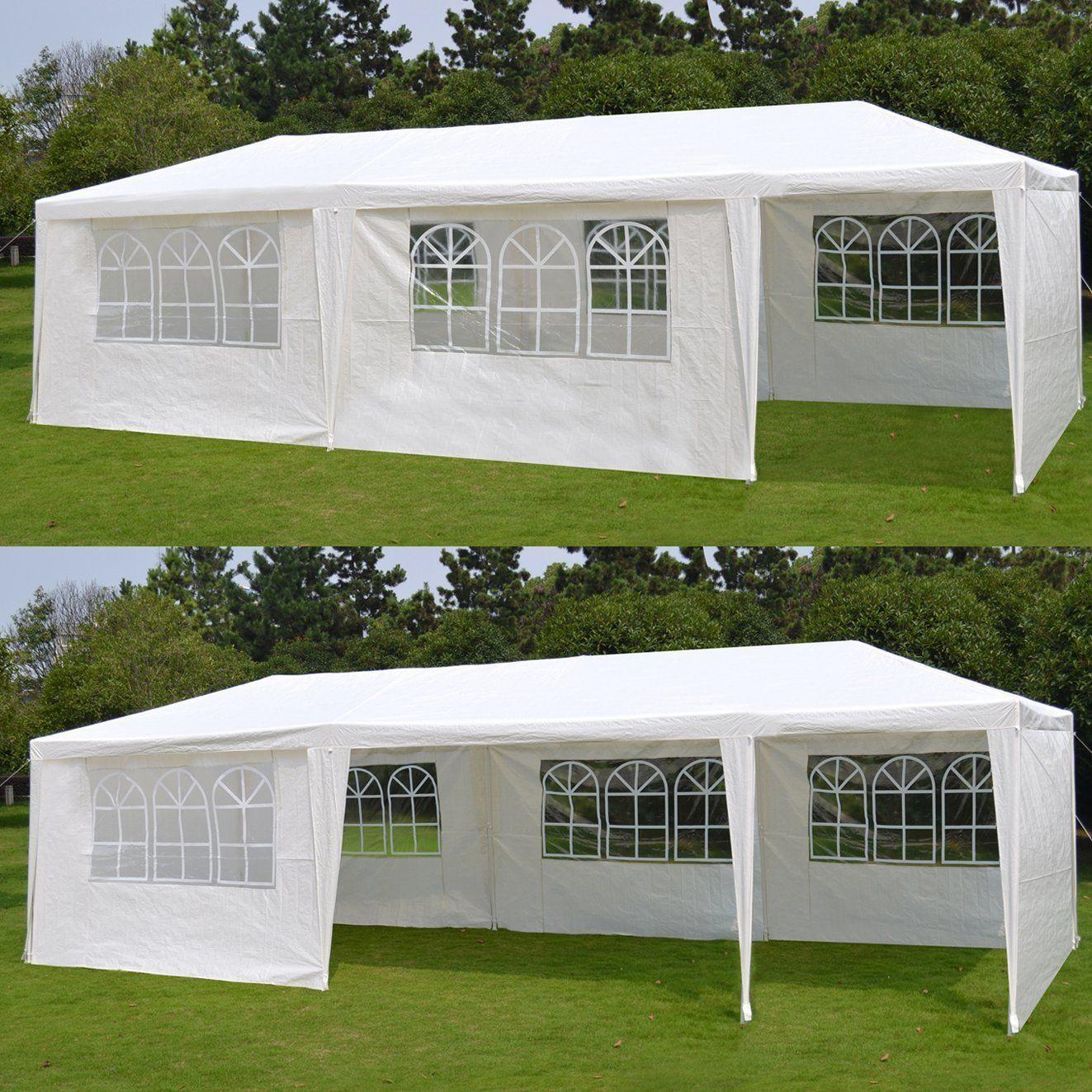 10'x 30' White Gazebo Yard Party Tent Canopy