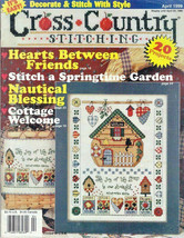 Cross Country Stitching Magazine April 1999 Noah's Ark, Cottage Welcome - $12.99