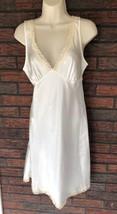 Victoria's Secret Ivory Night Gown Medium Lace V-Neck Feminine Romantic ... - $29.70