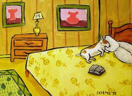 animal Art oil painting printed on canvas home decor BULL TERRIER  - $12.99+