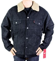 NEW LEVI'S MEN'S PREMIUM CLASSIC CORDUROY BLACK FUR JACKET 705201039 SIZE 2XL