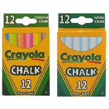 Crayola Chalk White & Colored 12-Pack (1 Pack of White & 1 Pack of Color - $13.95