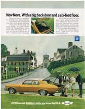 Vintage 1973 Magazine Ad Chevrolet Nova Has Hatchback Plus Back Seat Folds Down - $5.93