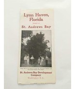 Vintage Lynn Haven Florida St. Andrews Bay Development Company Brochure ... - $272.25