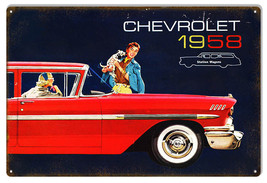 1958 Chevrolet Station Wagon Garage Shop Reproduction Sign 12x18 - $23.76
