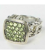 John Hardy Classic Chain Lava Ring Green Peridot Sterling Silver Sz 6 NW... - $354.05