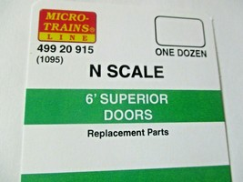 Micro-Trains # 49920915 (1095)  6' Superior Doors 12/Pack  N-Scale image 2
