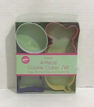 Wilton Easter Metal Cookie Cutters! Butterfly Egg Tulip Bunny Boxed Set New - $6.92