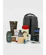 Target Beauty Men's Dopp Travel Zippered Bag & 11 Premium Travel Care Essentials - $27.49