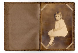 Antique Photograph Identified Janice Mae Lawton Sepia Kozorek Studio New... - $14.99